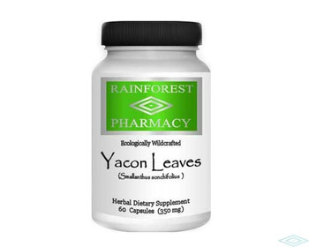 Yacon Leaves - 60 capsules by Rainforest Pharmacy