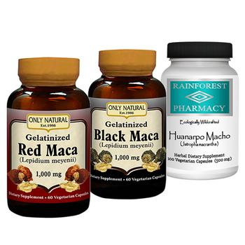 Red Maca, Black Maca & Huanarpo Macho Kit
