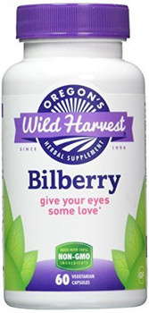8-Pak Bilberry Guaranteed-Potency Vegetarian-Friendly Capsules - Oregon's Wild Harvest