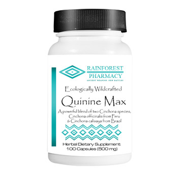 Quinine Bark Max 100-count capsules- Rainforest Pharmacy