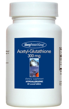 Acetyl-Glutathione 300 mg 60 Scored Tablets (Allergy Research Group)