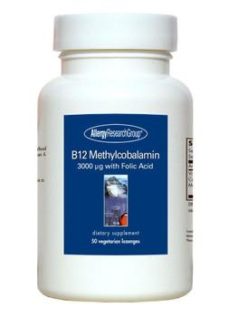 B12 Methylcobalamin 50 Vegetarian Lozenges (Allergy Research Group)