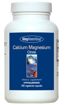 Calcium Magnesium Citrate 100 Vegetarian Capsules (Allergy Research Group)