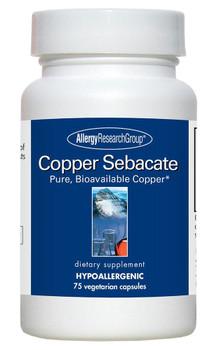 Copper Sebacate 75 Vegetarian Capsules (Allergy Research Group)