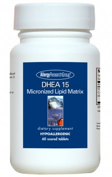 DHEA 15 mg 60 Scored Tablets (Allergy Research Group)