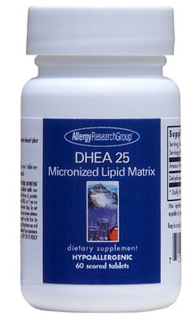 DHEA 25 mg 60 Scored Tablets (Allergy Research Group)