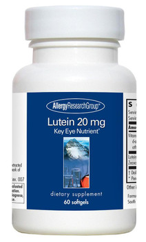 Lutein 20 Mg 60 Softgels (Allergy Research Group)