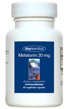 Melatonin 20 mg 60 Vegetarian Capsules (Allergy Research Group)