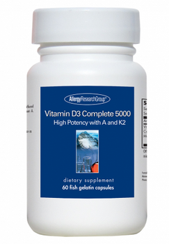 Vitamin D3 Complete 5000 60 Fish Gelatin Capsules (Allergy Research Group)