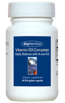 Vitamin D3 Complete Fish Gelatin Capsules (Allergy Research Group)