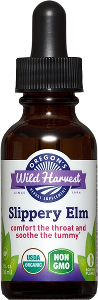Slippery Elm (extract) with Organic Alcohol - 1 oz. by Oregon's Wild Harvest
