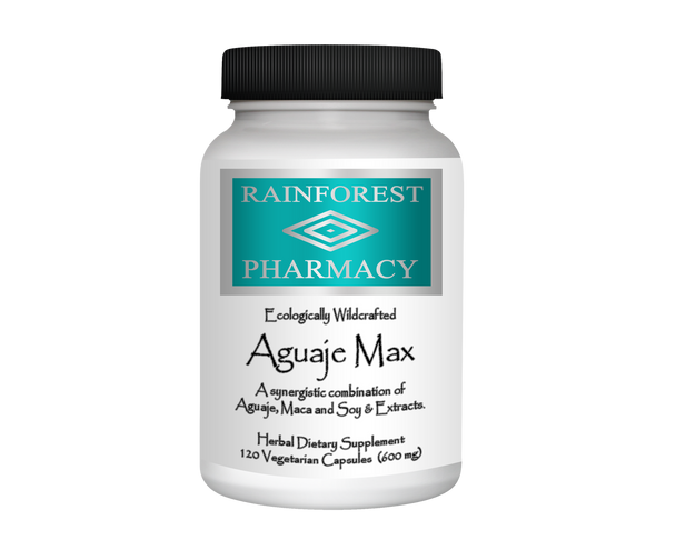 Aguaje Max 600 mg for Women - 120 Vegetarian Capsules by Rainforest Pharmacy
