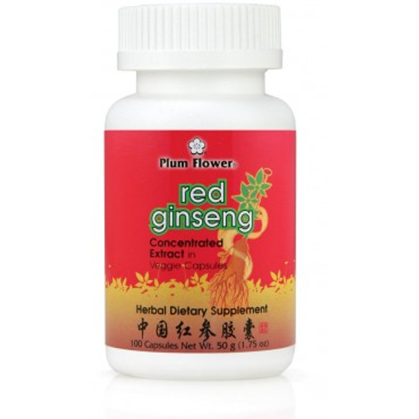 Red Ginseng - 100 Capsules by Plum Flower