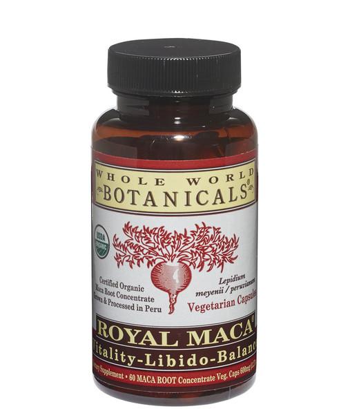 Royal MACA Vitality-Libido-Balance - 60 Veg Caps by Whole World Botanicals