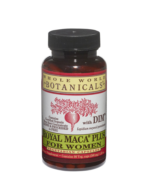 Royal MACA Plus for Women with DIM - 90 Veg Caps by Whole World Botanicals