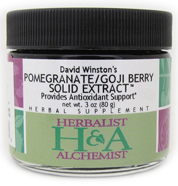 Pomegranate-Goji Berry Solid Extract - 3 oz. by Herbalist & Alchemist
