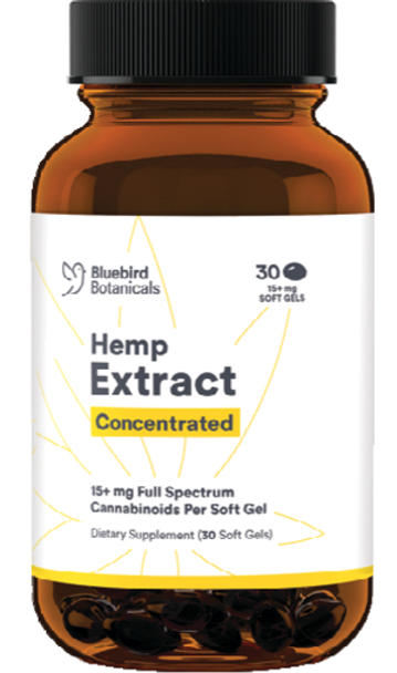 Concentrated CBD  Soft Gels - Bluebird Botanicals