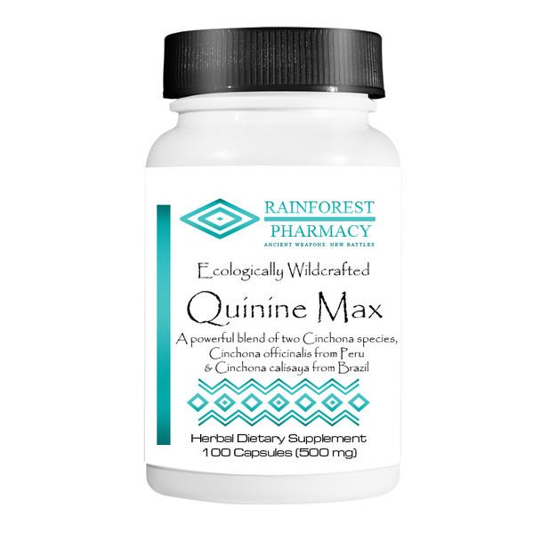 Quinine Bark Max 100-count capsules- Rainforest Pharmacy