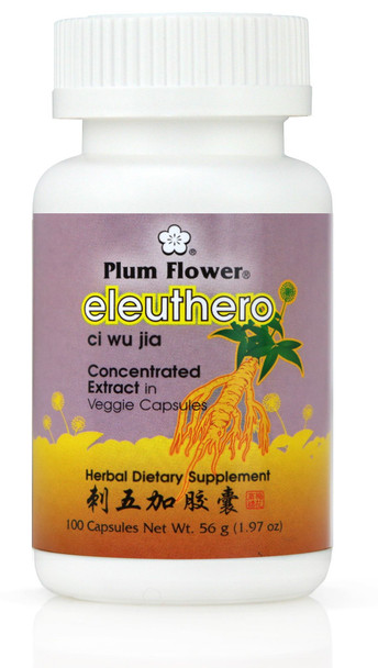 Siberian Eleuthero 5:1 Concentrate in vegetable capsules - Plum Flower