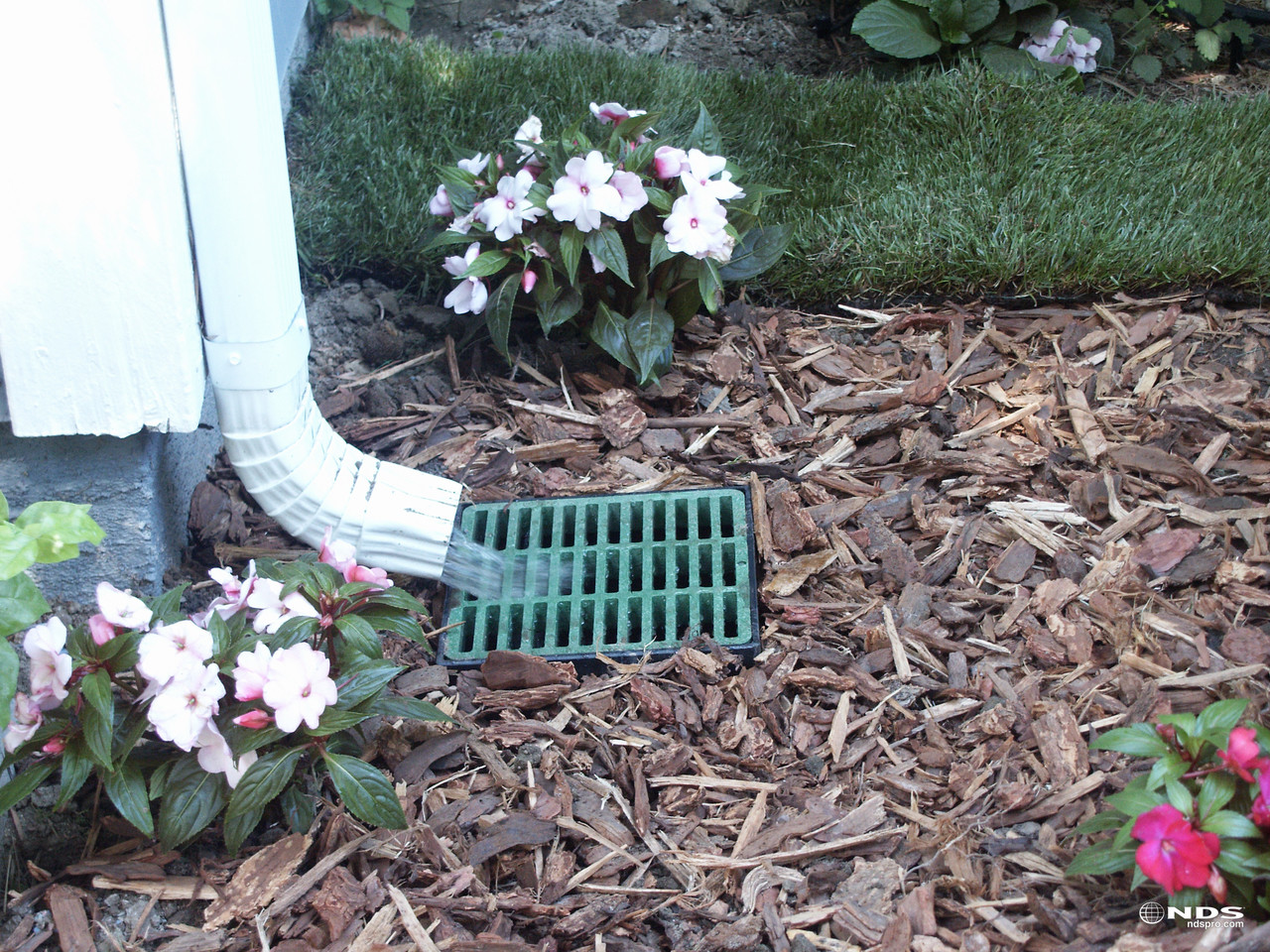 Nds 9 Quot Catch Basin Kit W Green Grate The Drainage