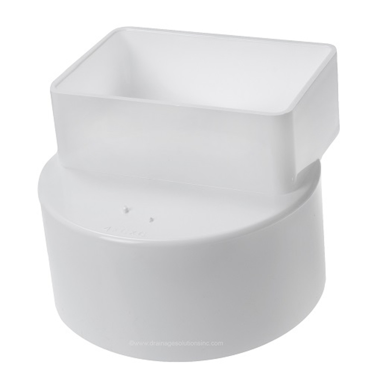 Pvc 4 X 6 X 6 Sdr35 Downspout Adapter Offset Dsa X Hub The Drainage Products Store