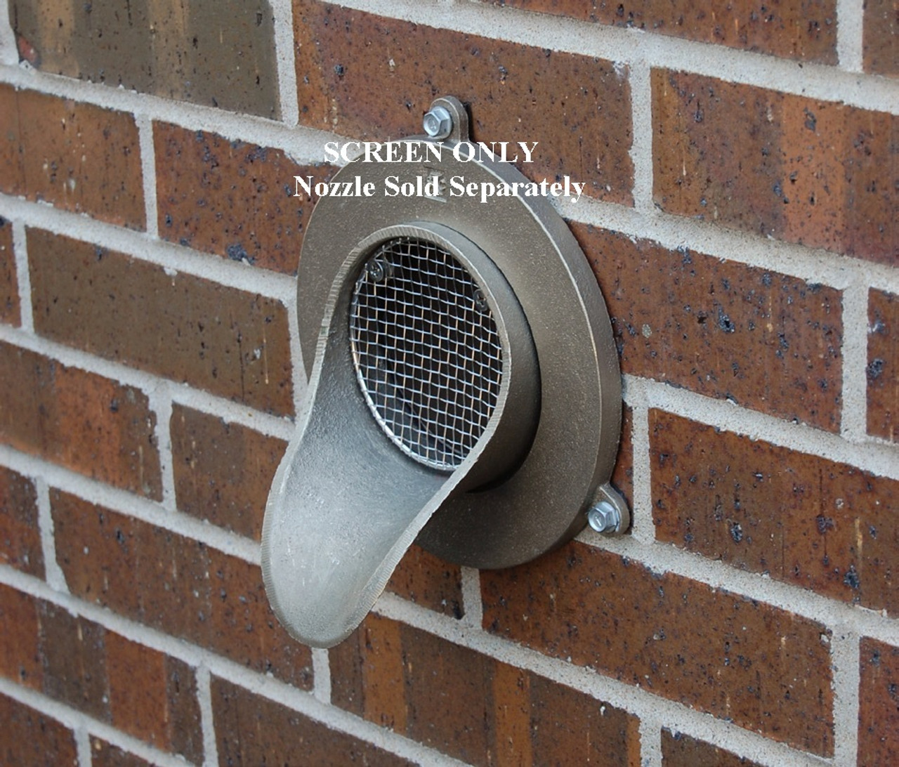 6 Quot Bird Screen For Nickel Bronze Downspout Nozzle The