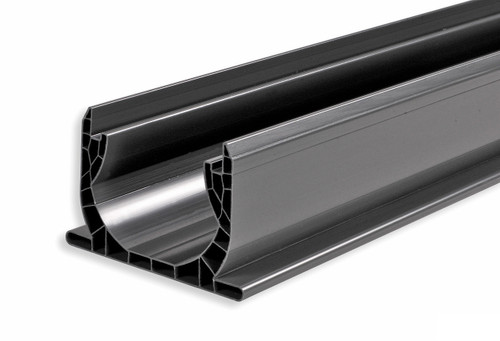 "NDS Spee-D Channel Drain 4"" x 4' (Gray) (Each)"