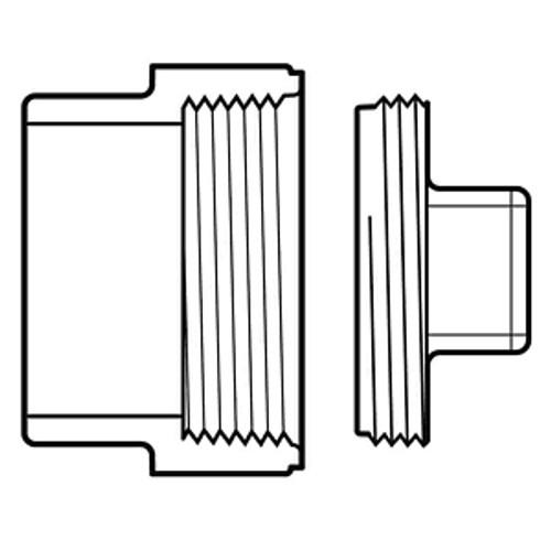 "12"" PVC DWV Cleanout Adapter & HDPE Plug (Sp x FPT)"