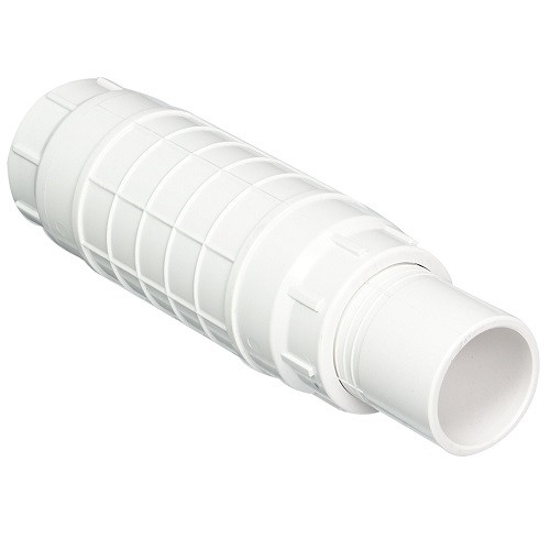 "2 1/2"" PVC Expansion Repair Coupling (White) (S x Sp)"