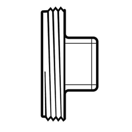 "10"" PVC SDR35 Threaded Plug (MPT)"