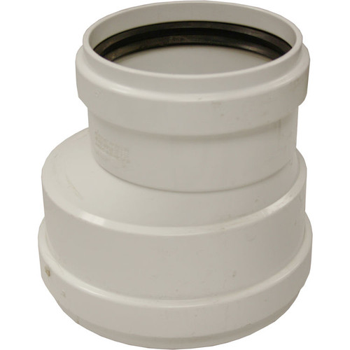 """8"""" X 6"""" PVC SDR35 Gasket Joint Eccentric Reducer Coupling (G x G)"""