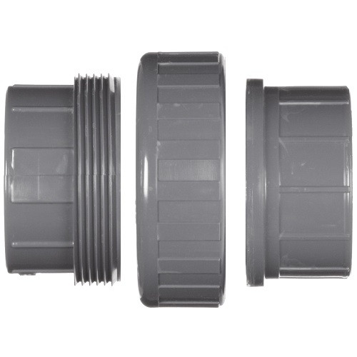 """3"""" PVC Schedule 80 Union (FPT x FPT) Viton O-Ring"""