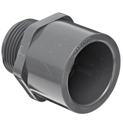 "3"" PVC Schedule 80 Male Adapter (S x MPT)"