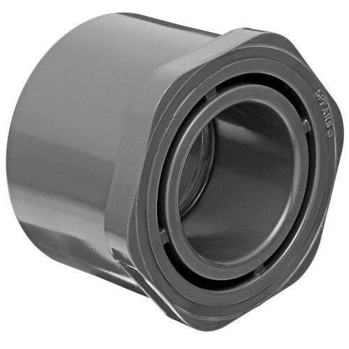 "3"" x 2 1/2"" PVC Schedule 80 Reducer Bushing (Sp x S)"