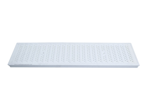 NDS Dura Slope Plastic Perforated Grate- White (Each)