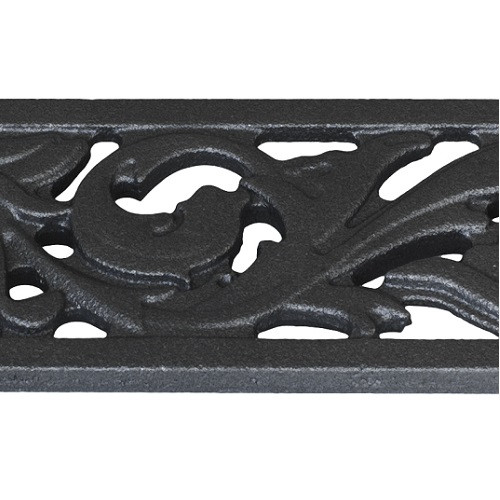Iron Age Raw Cast Iron Mini Channel Acanthus Grate