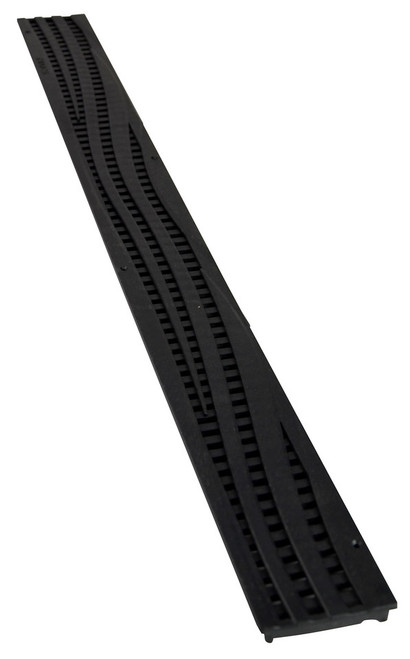 NDS Mini Channel Decorative Wave Grate - Black (Each)