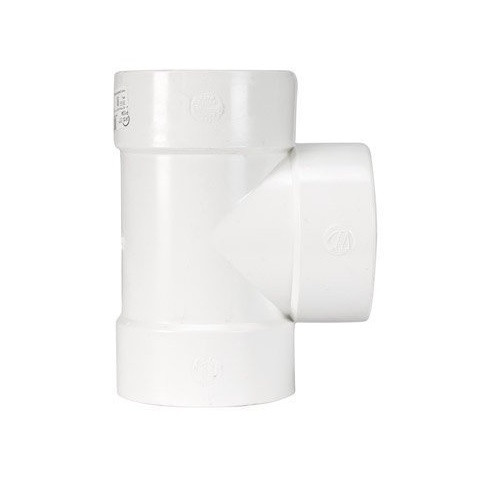 "3"" x 3"" x 3"" PVC SDR35 Solvent Weld Straight Tee (S x S x S)"