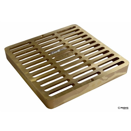 """NDS  Square Brass Grate for 9"""" Basin 930B"""