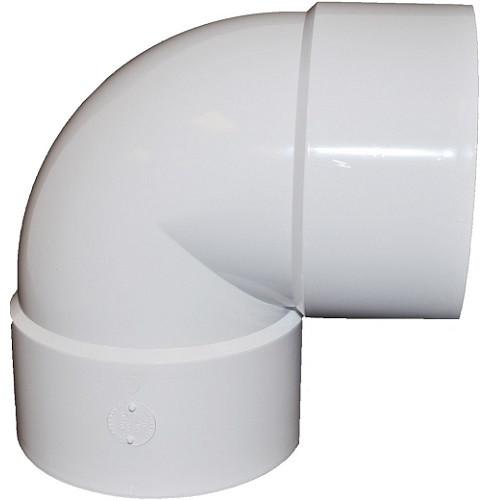 """10"""" PVC SDR35 Solvent Weld Short Turn 90 (1/4) (S x S)"""