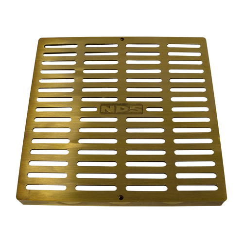 """NDS Square Brass Grate for 12"""" Basin"""