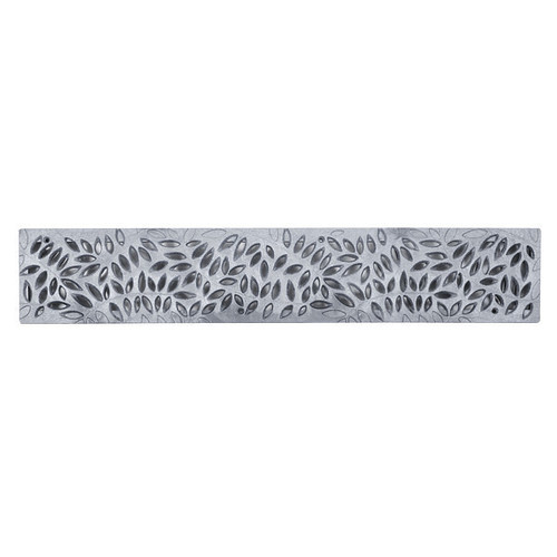 NDS Spee-D Channel Decorative Botanical Grate - Gray (Box of 12)