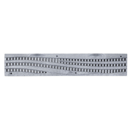 NDS Spee-D Channel Decorative Wave Grate - Gray (Box of 12)