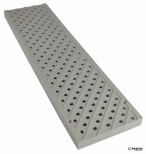 "NDS Pro Series 5"" Pedestrian Traffic Channel Grate - Gray (Box of 10)"