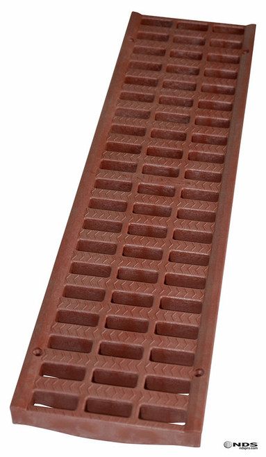 "NDS Pro Series 5"" Light Traffic Channel Grate - Brick Red (Box of 10)"