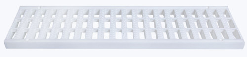 "NDS Pro Series 5"" Light Traffic Channel Grate - White (Box of 10)"