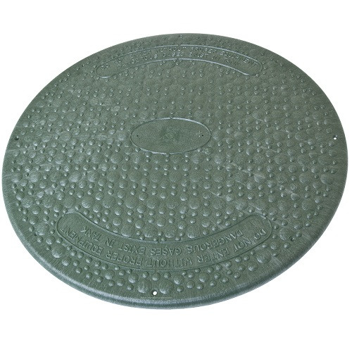 "24"" Structural Foam Solid Septic Riser Cover - Green"