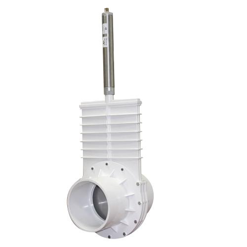 "Valterra  6"" PVC Knife Gate Valve w/Pneumatic Air Actuator (S x S)"