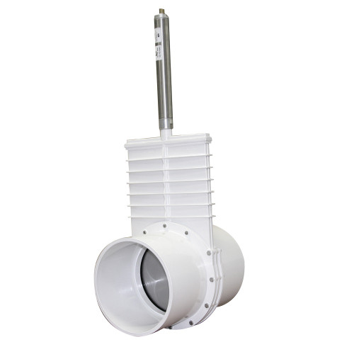 "Valterra  8"" PVC Knife Gate Valve w/Pneumatic Air Actuator (S x S)"