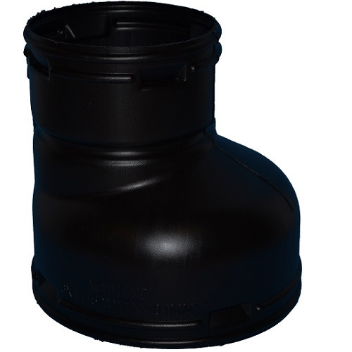 "HDPE  6"" x 4"" Singlewall Offset Reducer Coupling (BE)"